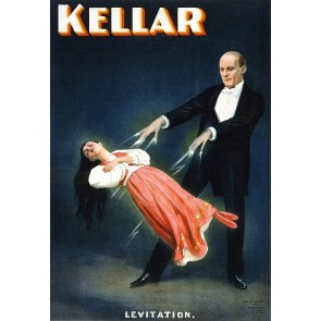 Kellar Levitation Magic Poster