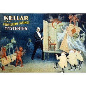 Kellar Perplexing Cabinet Mysteries Magic Poster