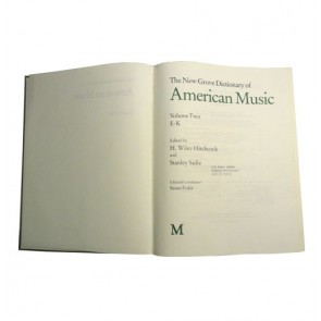 The New Grove Dictionary of American music, E to K