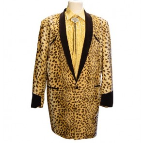 Drape Jacket Gold Ocelot / Black Velvet