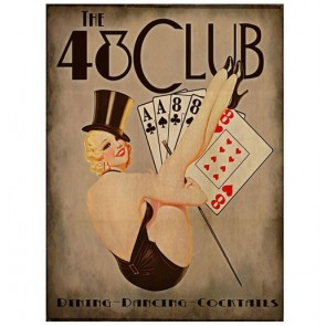 Metalen Bord - The 48 Club