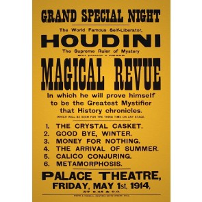Houdini Magical Revue Magic Poster