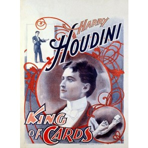 Harry Houdini King Of Cards Magic Poster