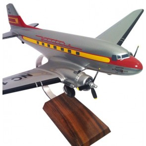 Model Vliegtuig DC-3 Western Airlines