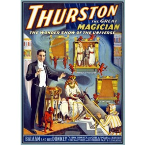 Thurston Balaam And His Donkey Magic Poster