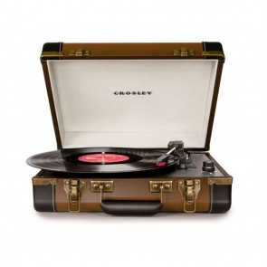 Crosley Executive Portable USB Turntable - Bruin/Zwart