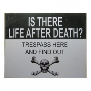 Metalen Poster - Is There Life After Death