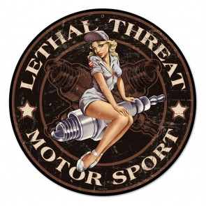 Lethal Threat Motor Sport Pin-up Zwaar Metalen Bord