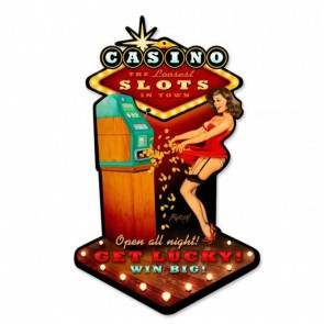 Casino Pin-Up Baron Von Lind Zwaar Metalen Bord