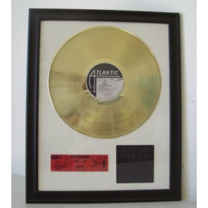 Gouden plaat Lp ACDC Back in Black