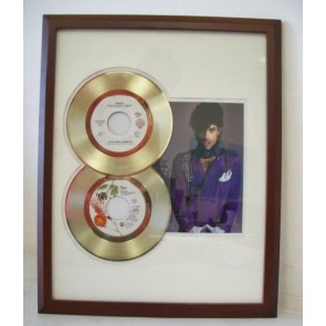 Gouden dubbel plaat Prince When Doves Cry & Little red Corvette