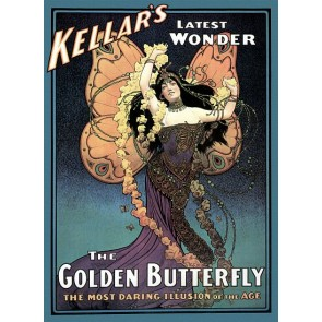 Kellar's Latest Wonder Golden Butterfly Magic Poster