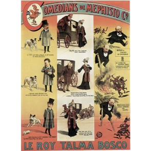LEROY TALMA BOSCO Comedians De Mephisto Magic Poster