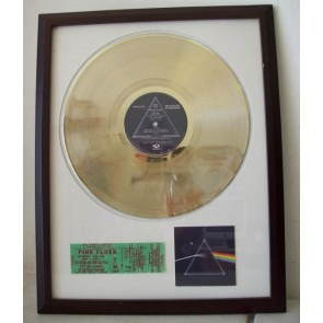 Gouden plaat Lp Pink Floyd Dark Side of the moon