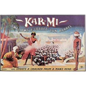 KARMI Magician Shoots Cracker Magic Poster