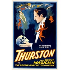 Thurston Do The Spirits Come Back Magic Poster