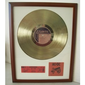 Gouden plaat Lp ACDC For those about to rock you ..