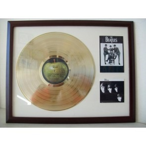 Gouden plaat LP The Beatles meet The Beatles