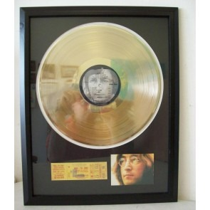 Gouden plaat Lp John Lennon Imagine The Beatles