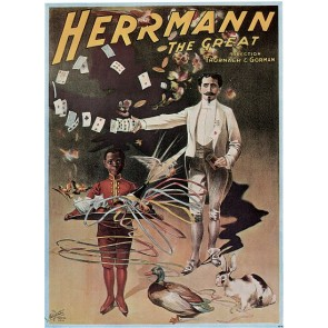 Herrmann The Great Card Magic Poster