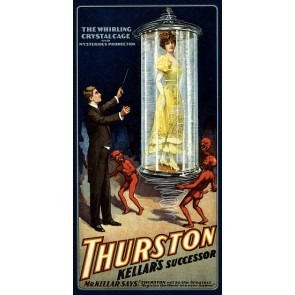 Thurston Whirling Crystal Cage Magic Poster