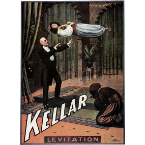 Kellar Levitation Middle Eastern Setting Magic Poster