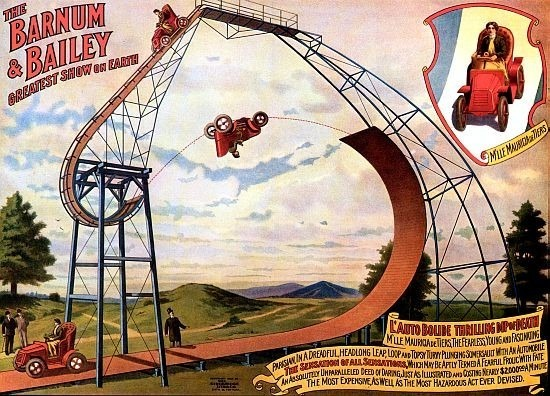 Thrilling Dip O' Death Circus Poster