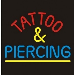 Tattoo & Piercing Neon Sign