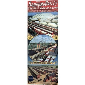 Barnum & Bailey Les Grandes Tentes French Circus Poster