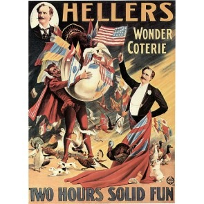 Heller's Wonder Coterie Magic Poster