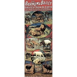 Barnum & Bailey Menagerie Circus Posters Lions Tigers