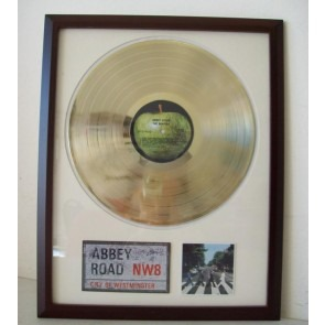 Gouden plaat LP The Beatles Abbey Road