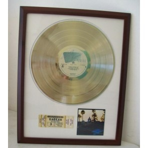 Gouden plaat Lp The Eagles Hotel California